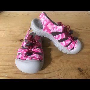 Girls pink Keen sandals size 12